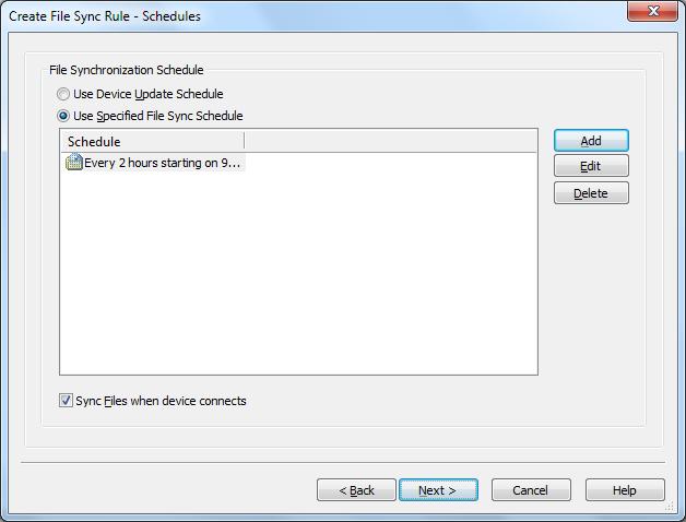 File Synchronization Schedule