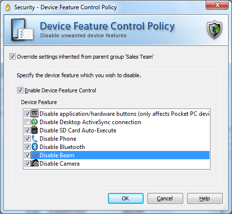 Device Feature Control