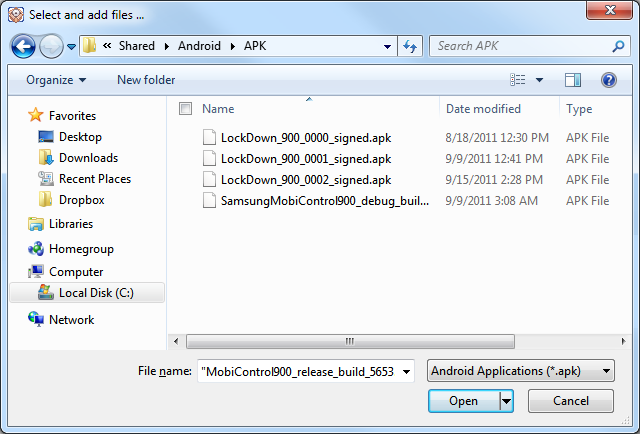 Add APK Files