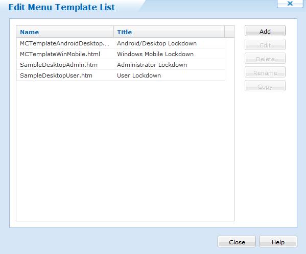 Customizing Android for Work Kiosk Mode Menu Templates