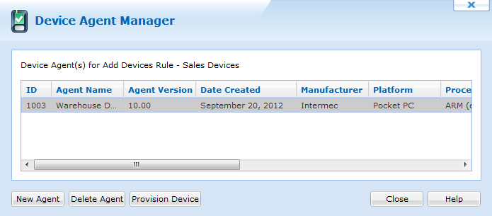 Windows Mobile Device Agent Manager