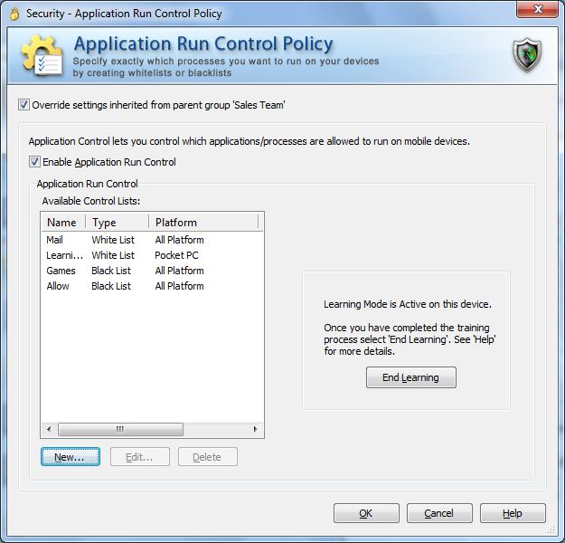 Application Run Control