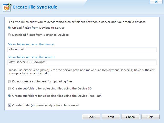 File Sync Rule