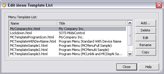 customizing lockdown program menu templates