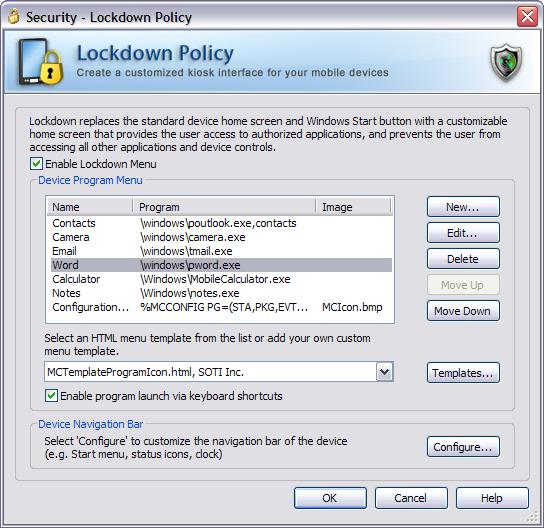 Device Lockdown