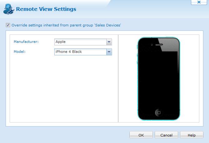 Remote Control Settings iOS