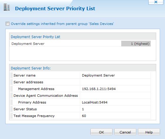 iOS Deployment Server Priority