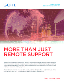 See why SOTI Assist is More Than Just Remote Support