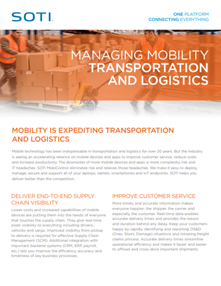 SOTI MobiControl for Transportation and Logistics brochure