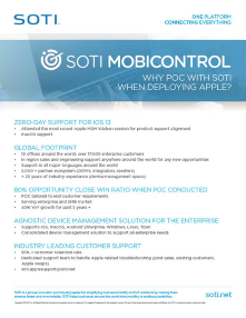 Apple Management - Business Mobility & IoT Solutions | SOTI