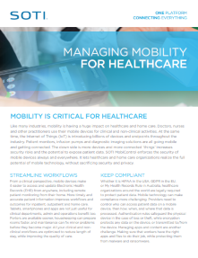 SOTI MobiControl for Datalogic in Healthcare brochure