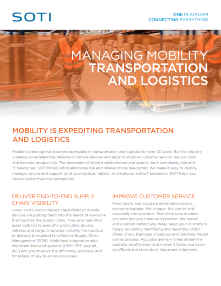 Managing Mobility for Transportation and Logistics TOUGHBOOK brochure
